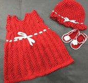 Vestito o abito neonata uncinetto