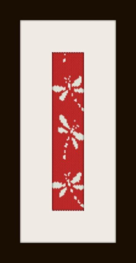 PDF schema bracciale Libellula in stitch peyote pattern - solo per uso personale