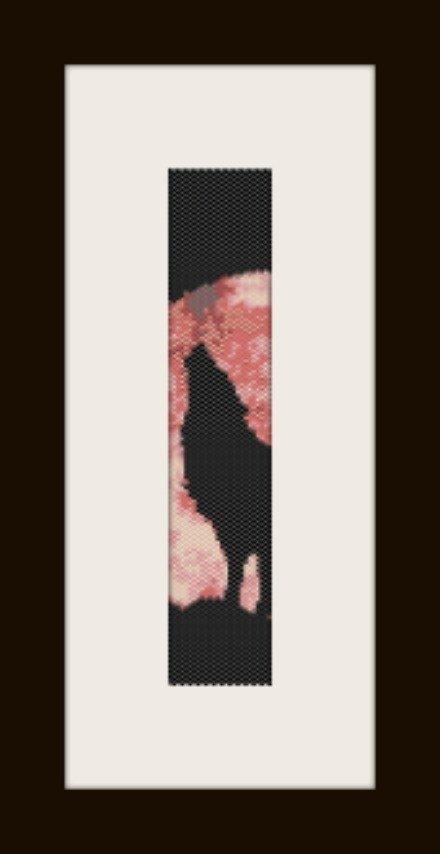 PDF schema bracciale Lupo2 in stitch peyote pattern - solo per uso personale