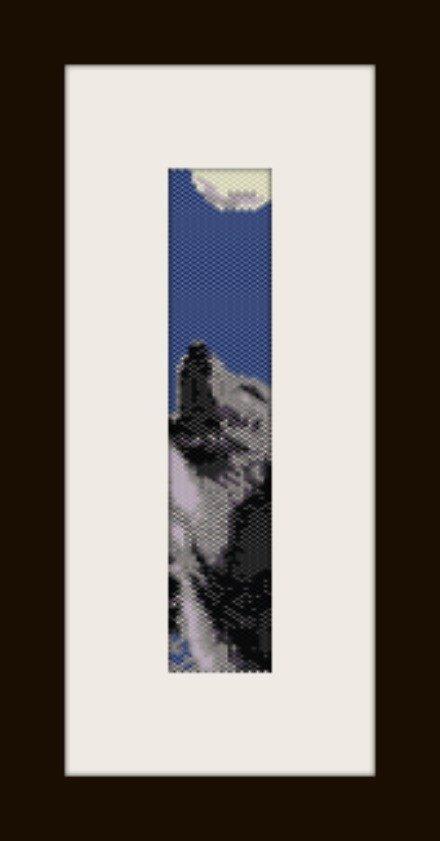 PDF schema bracciale Lupo in stitch peyote pattern - solo per uso personale