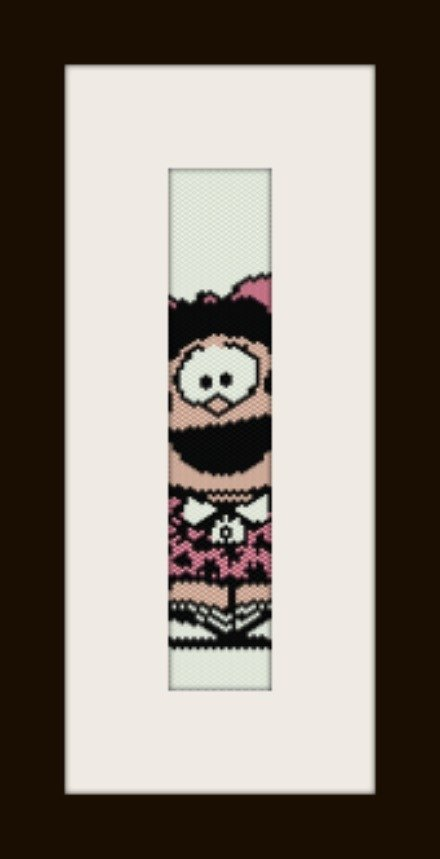 PDF schema bracciale Mafalda2 in stitch peyote pattern - solo per uso personale