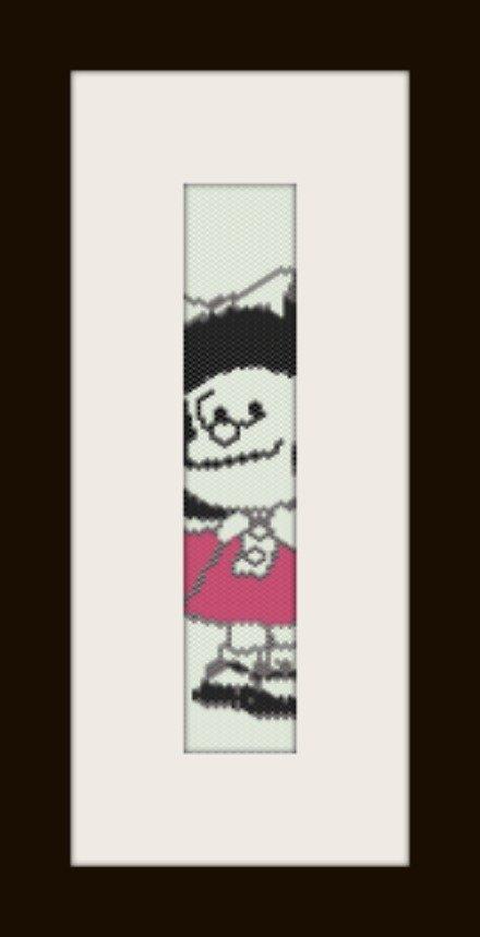 PDF schema bracciale Mafalda in stitch peyote pattern - solo per uso personale