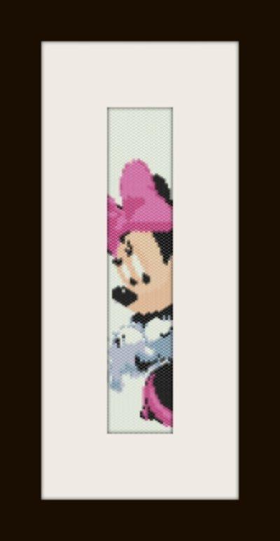 PDF schema bracciale Minnie in stitch peyote pattern - solo per uso personale