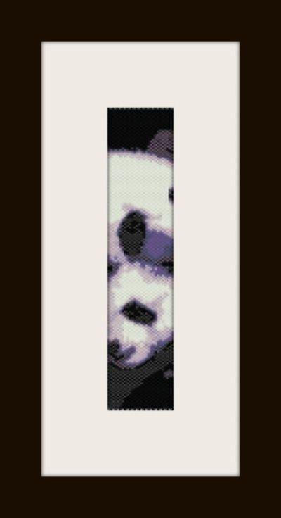PDF schema bracciale Panda Love in stitch peyote pattern - solo per uso personale