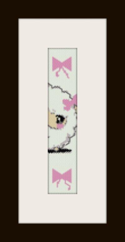 PDF schema bracciale Pecorella in stitch peyote pattern - solo per uso personale