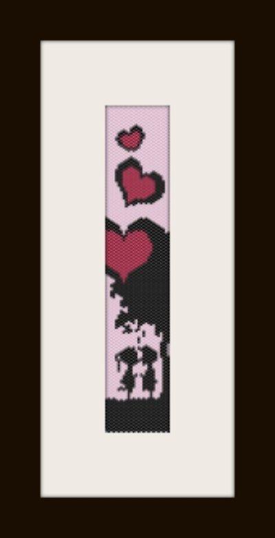 PDF schema bracciale San Valentino2 in stitch peyote pattern - solo per uso personale