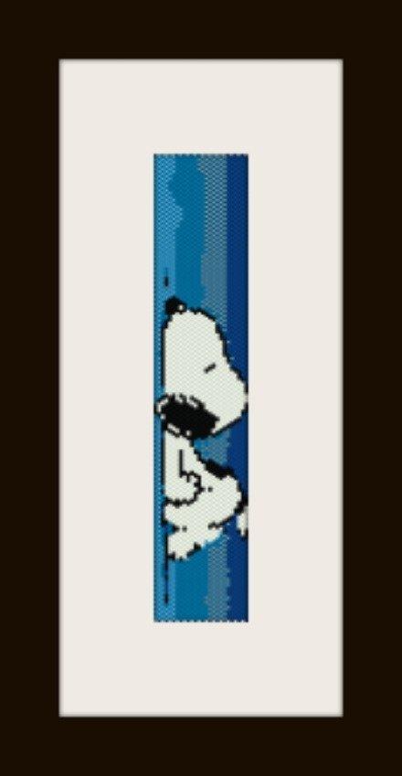 PDF schema bracciale Snoopy2 in stitch peyote pattern - solo per uso personale