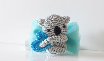 Koala idea bomboniera - calamita all'uncinetto