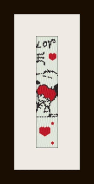 PDF schema bracciale Snoopy in stitch peyote pattern - solo per uso personale