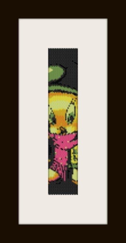 PDF schema bracciale Titty inverno in stitch peyote pattern - solo per uso personale