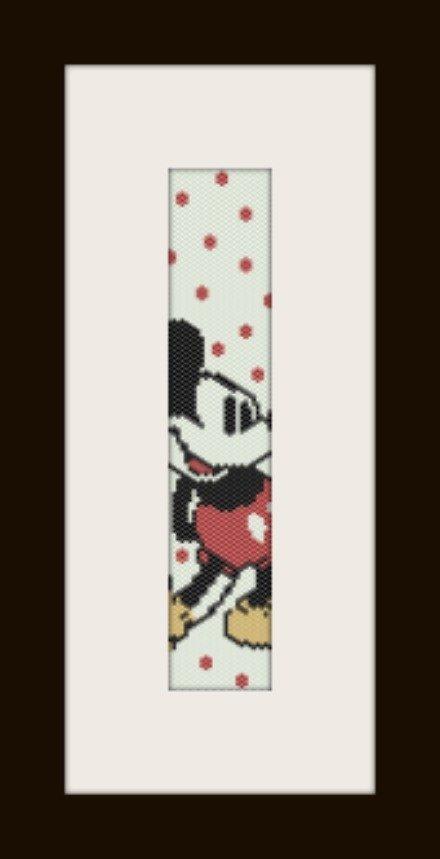 PDF schema bracciale Topolino in stitch peyote pattern - solo per uso personale