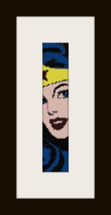 PDF schema bracciale Wonderwoman1 in stitch peyote pattern - solo per uso personale
