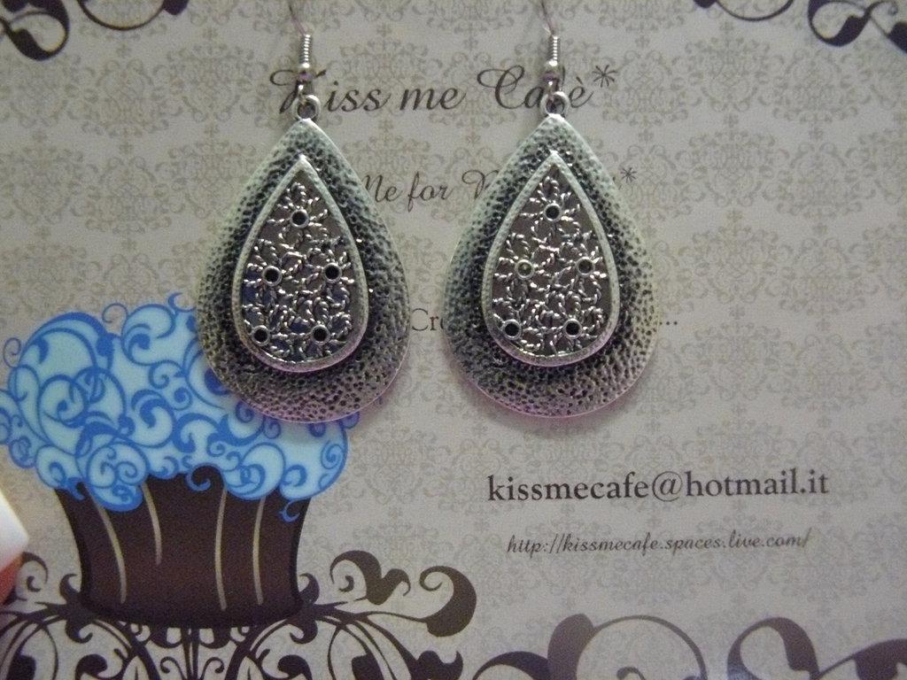 Orecchini argento indiano