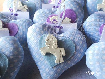 Cuoricino profuma cassetti bomboniera battesimo nascita