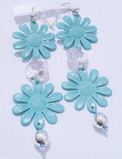 """orecchini pendenti azzurri """"Fiori di campo"""""""