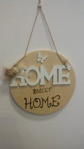 Targa Home Sweet Home in legno