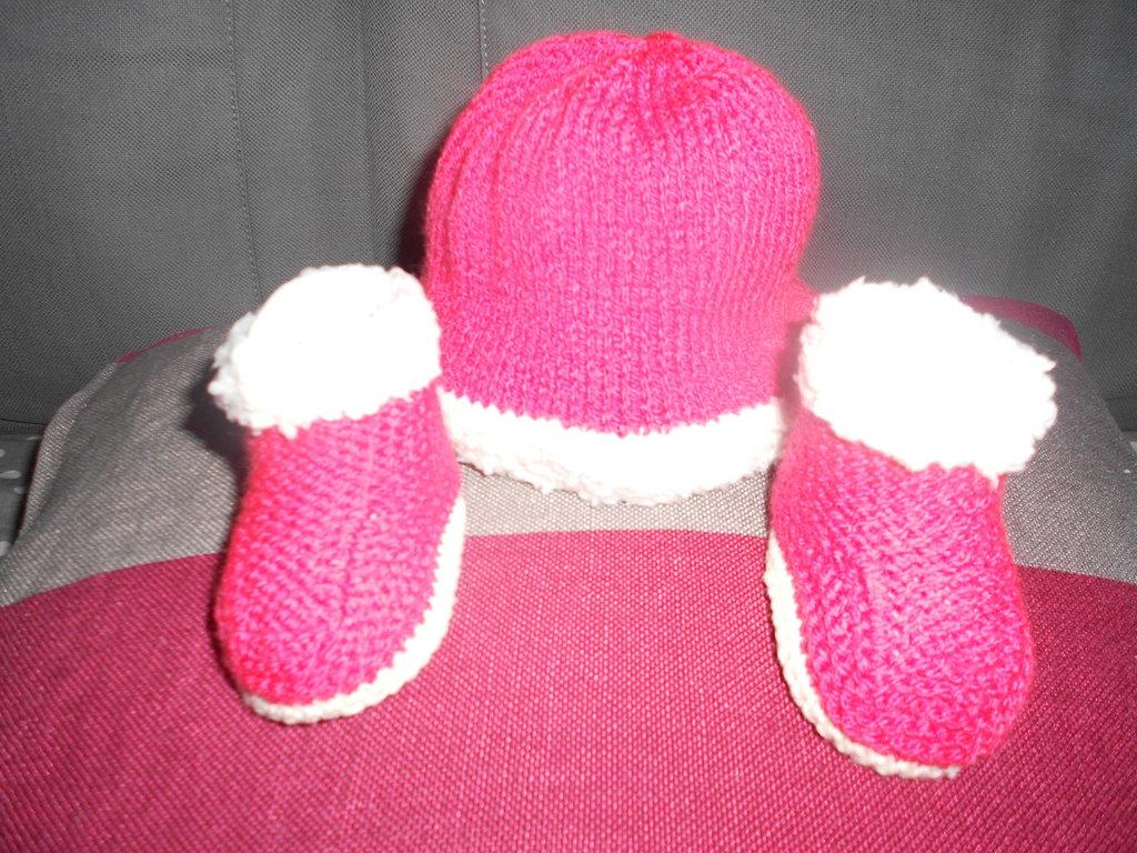 Coordinato natalizio cappello e scarpe  - Set cappellino e scarpine Natale!