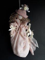 Bambola romantica rosa