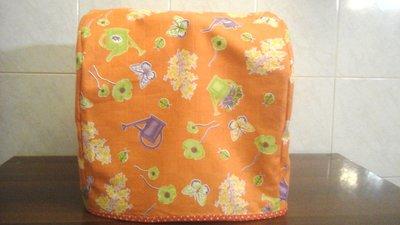 Copri bimby per TM31, con fantasia in arancione