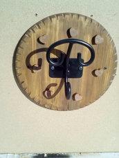Attaccapanni in legno e ferro