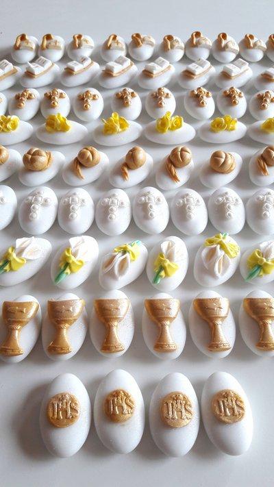 110 Confetti comunione - confettata comunione - confettata cresima- confetti decorati - bomboniere fai da te - comunione fai da te - confetti cresima