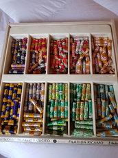 Offerta 10 spole di filo di seta100% colori assortiti,pura seta,materiali