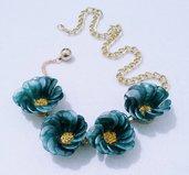 """collana corta con fiori """"Morgana"""""""