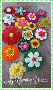 Mix fiori in feltro