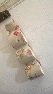 Porta rotoli cartaigenica beige floreale