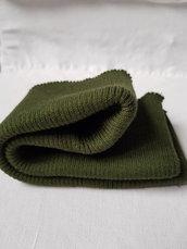 Bordo verde di maglia di lana alto 8 cm,rifiniture maglieria,materiali