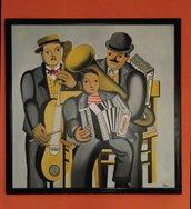 quadro dipinto a mano su tela con colori ad olio