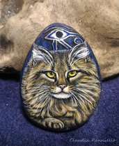 Maine Coon cat, ciondolo dipinto a mano