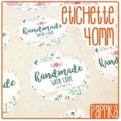 "Etichette ""Handmade With Love"" 4cm E003"