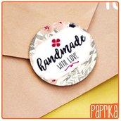 "Etichette ""Handmade With Love"" 4cm E002"