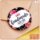 "Etichette ""Handmade With Love"" 4cm E001"