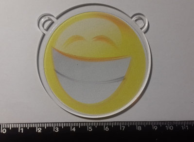 (488) ciondolo smile in plexiglass