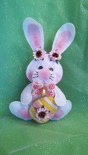 Coniglietto Tippy con sacchetto portaovetti, 23 cm
