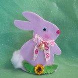 Coniglio pasquale rosa, portaovetti 15 cm