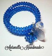 Bracciale blu con filo armonico