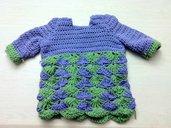 Crochet 3/4 sleeve sweater