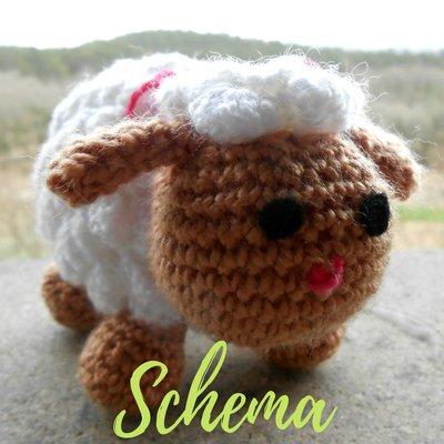 Amigurumi di Pasqua • Schema dell'agnello a uncinetto