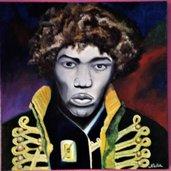 """quadro dipinto a mano su tela con colori ad olio """"Jimi"""""""