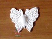 LOTTO PRONTA CONSEGNA di 24 Gessetti colore bianco profumati a forma di FARFALLA MODELLO 1 per bomboniera Laurea, Cresima, Battesimo, Comunione, Matrimonio, Natale - Idea Regalo