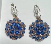 Orecchini royal con Swarovski blu sapphire