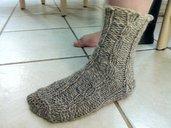 Cable Merino wool sock