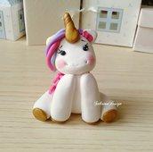 Cake topper unicorno, Cake topper unicorno arcobaleno, torta nascita, topper battesimo, topper comunione, festa unicorno