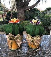 Fermaporta vaso di feltro con cuscino della suocera di feltro