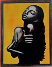 LA VOCE DI SADE  dipinto ad olio su tela