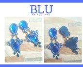 orecchini soutache Blu