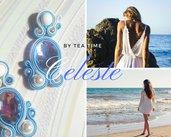 orecchini soutache Celeste